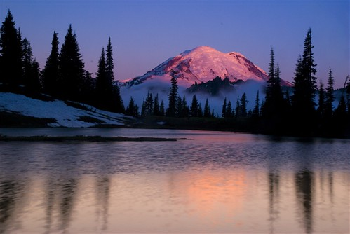 Mt Rainier in the morning light!
