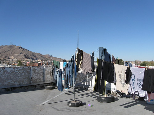 Laundry and Mountains.