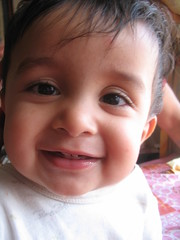 Smiling for the camera (Ankur P) Tags: kids twins babies fraternal