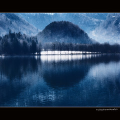 Lake Kochel - blue version (MyOakForest) Tags: winter alps water alpen refections kochelsee spiegelungen flickrsbest theunforgettablepictures lakekochel