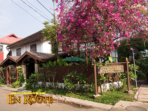 Lao Heritage Hotel on the Side street