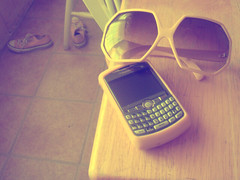Yellow is my favorite color, if you hadn't noticed. (love a la mode) Tags: sunglasses yellow chucks blackberrycurve