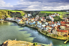 Staithes from Cowbar Nab. (Tall Guy) Tags: uk photography coast photo photos yorkshire enjoy northyorkmoors staithes tallguy cowbarnab vosplusbellesphotos
