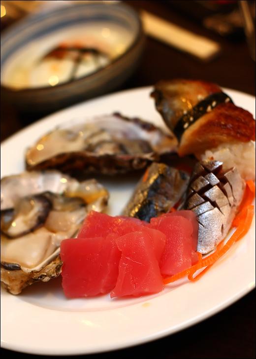 sashimi oyster unagi
