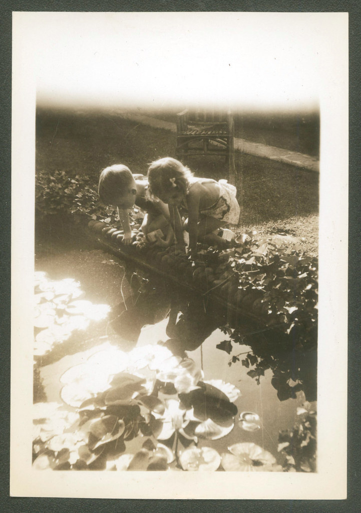 Two friends playing next to a pond Part 1 - 1937