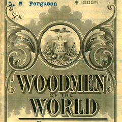 Woodmen of the World Beneficiary Certificate (...