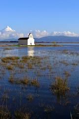 Serenity church (aserezis) Tags: travel church landscape lagoon greece serene peloponese achaia abigfave goldenheartaward