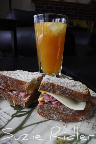 Mango Iced Tea & Pastrami on Homemade Caraway Rye Bread
