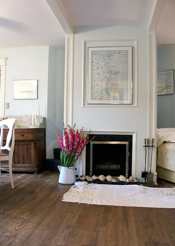 Pretty pale blue living room: 'Seafoam' by Benjamin Moore by xJavierx.