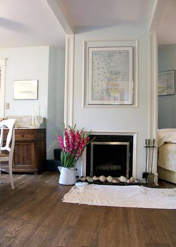 Pretty pale blue living room: 'Seafoam' by Benjamin Moore