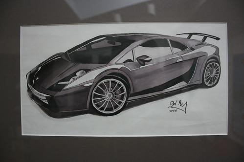 AJJ Lambo Drawing