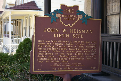Not the John W. Heisman birth site