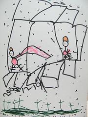 20081219-zozo畫泡湯後在戶外玩