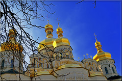 Ukraine, Kiev. Spring! (lights2008) Tags: color history church beauty architecture cathedral ukraine orthodox kiev  ukraina     historicalplace    kievpechersklavra  anawesomeshot anticando    holyassumptioncathedral
