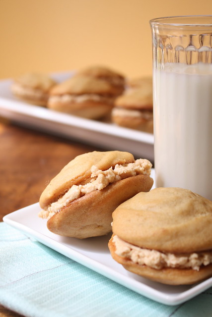 Whoopie Pies with Salted Caramel Filling