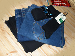 Cheapo jeans, socks, etc.