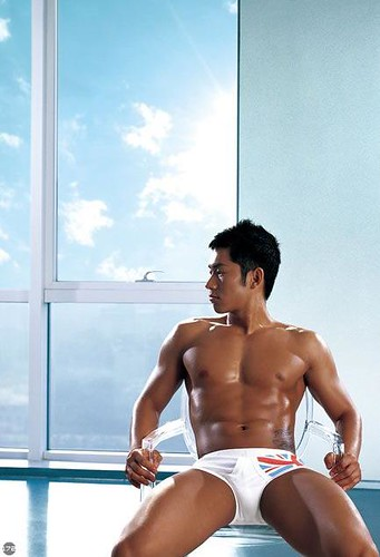 sexy asian underwear male model