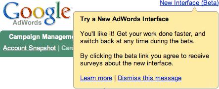 google adwords new ui