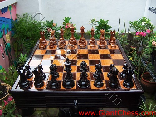 Chess Set Outdoor And Board For Garden Use. Chess Pieces Make An Attractive  Garden Feature And Allow Participants U2013 From Beginners To Expert U2013 To  Partake In ...
