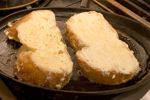 Grilling the Buttermilk-Challah French Toast 1