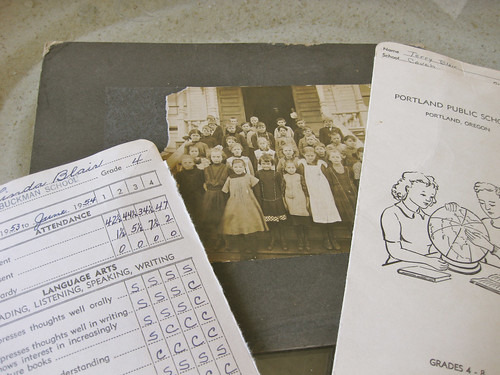 Class photograph & report cards
