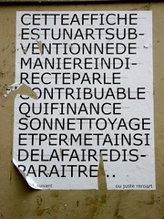 StreetArt, Paris, France (balavenise) Tags: streetart paris france art collage wall publicspace word graffiti mural artist wheatpaste tag urbanart mur mots criture lettres mot palabra arteurbano artdelarue arturbain ephemere artedecalle artsauvage efemero flickrgiants