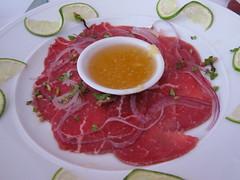 nam - vietnamese beef carpaccio (bo tai chanh)