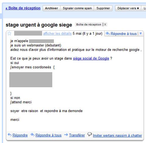 Blague Stage Urgent à Google Siege