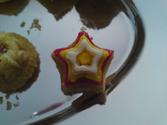 Star cake close up top