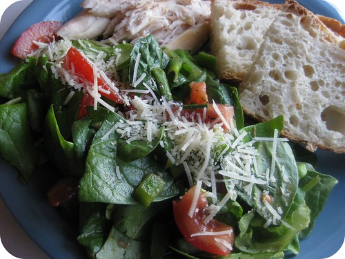 Sweet, wonderful, delicious, green salad.