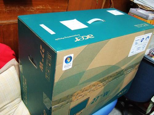 27吋LCD的箱子真的不是普通大