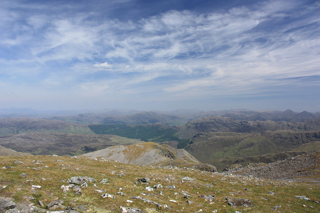 Looking east from Beinn Sgritheall