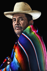 """ El Sarape "" (Alfredo11) Tags: light portrait man color luz mexico nikon expression retrato alfredo emotions hombre iluminar expresion nikonsb600 nikonsb800 sekonic pocketwizard nikoncreativelightingsystem nikon1755mm28 nikond300 elinchromlite2"
