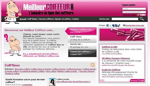 Meilleur Coiffeur - site social web 2.0