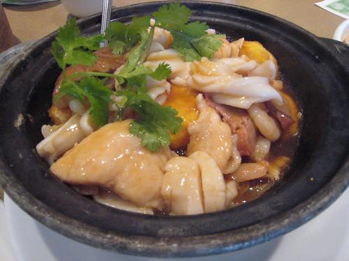 Braised Egg Tofu with Seafood