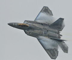 F-22 Raptor - From the Top (NikonJim) Tags: plane fighter aircraft airshow explore rhodeisland raptor f22 usaf quonset d300 unitedstatesairforce watervapor explored demonstrationteam f22a 300mmf4d aircombatcommand platinumphoto northkingston nikonjim
