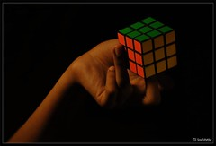 Rubiks Cube - Solved (Gowri Clicks) Tags: bw colors composition nikon bright vivid puzzle cube solved rubiks rubikscube d60