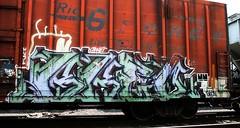 ... (mightyquinninwky) Tags: railroad logo geotagged graffiti tag tracks railway motto tags tagged railcar rails spraypaint boxcar janet graff graphiti riogrande trainart paintedtrain railart spraypaintart husl orek fusk paintedsteel evansvilleindiana taggedboxcar paintedboxcar geo:lat=37956363 geo:lon=87614674 taggedrailcar theactiontogo