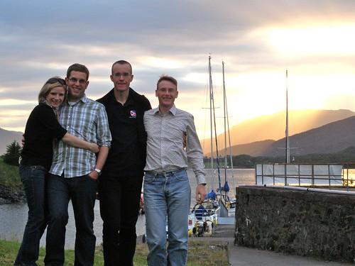 Sunset, Ballachulish (Nuala, Joel, Michael and Graham)