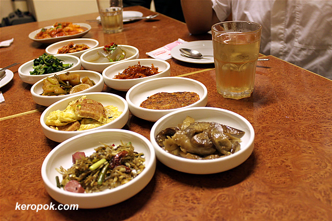 Galore of side dishes