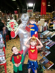 Captain Atom, Wondergirl, Robin, and Superboy (Eric3060) Tags: costumes robin book comic day free captain superboy atom wondergirl 2011 fcbd