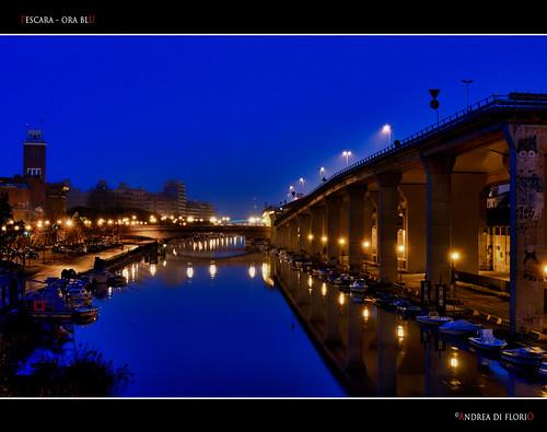 Ora blu sul Pescara