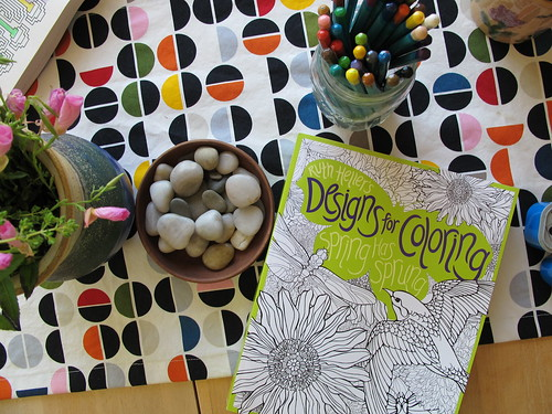 unplugged sunday:  breaking out the new coloring books