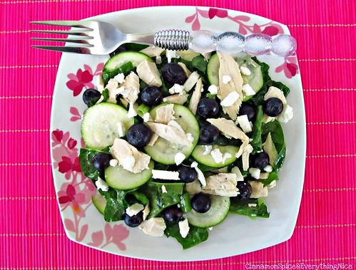 Zucchini, Chicken and Blueberry Salad