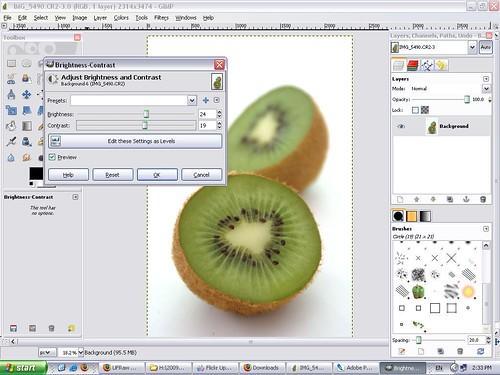 GIMP (brightnes,contrast)
