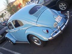 Bug Side Back (classic77) Tags: blue classic bug wagon parking beetle lot beatle 1956 volks 56 volkswagon