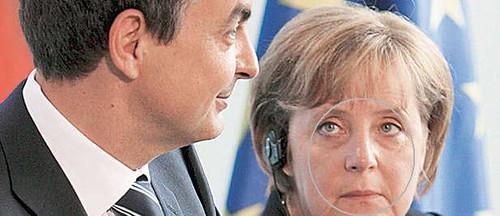 Zapatero y Merkel