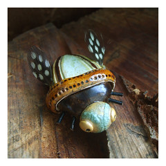 beetle - uk (karolina-g) Tags: ceramic brooch beetle jewellery ceramika uk broszka