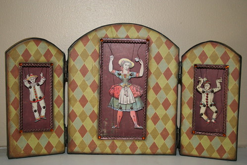 Clown triptych from amaryllisroze