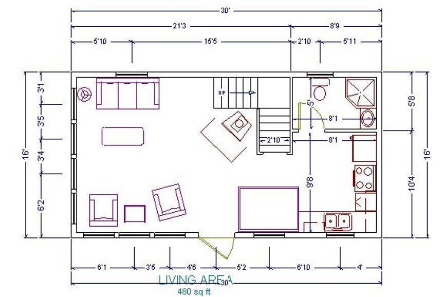 16x24 cabin with loft floor plans
